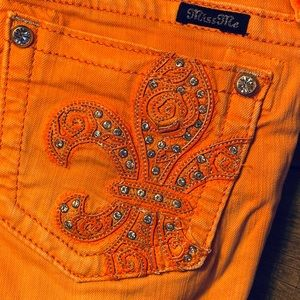 Miss Me Coral skinny jeans